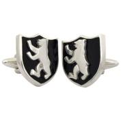 Berlin Cufflinks Crest Enamel Cufflinks Sterling Silver handcrafted