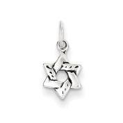 Sterling Silver Small Star of David Charm - JewelryWeb