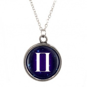 Silver Plated Necklace with Gemini design Pendant