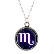 Silver Plated Necklace with Scorpio design Pendant