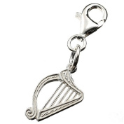Silver Charm Clip On Harp