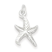 Sterling Silver Textured Starfish Pendant - JewelryWeb