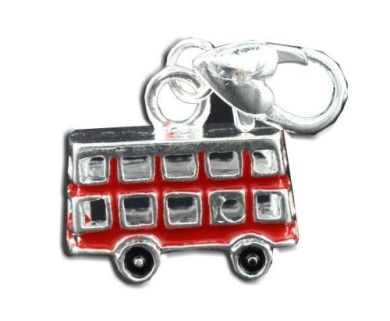 Silver Plated Red London Bus Clip On Charm Bead Will Fit Thomas Sabo Style Bracelets By Truly Charming®