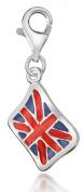 Silver Enamel Union Jack Charm