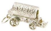 CLASSIC DESIGNS Sterling Silver 925 Opening Covered Waggon Charm N173