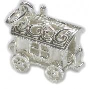 Gypsy caravan opening sterling silver charm .925 x 1 caravans charms BJ1408