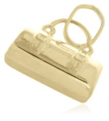9ct Yellow Gold Travel Holdall Charm Pendant