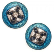 Espressivo Silver Turquoise Clip On Earrings