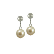 Oyster White Freshwater Pearl Drop Clip On Earrings