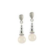 Regal Rose Quartz Gemstone Drop Clip On Earrings