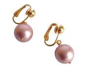 Tahiti Rose Pearl clip-on Earrings in Gold