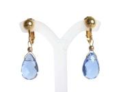 Blue Topaz clip-on earrings in 14 gold