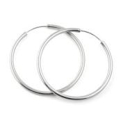 Hoop Earrings in 925 Sterling Silver, 25mm Diameter