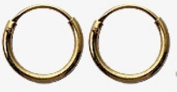 Silver Hoop earrings 18K GOLD PLATED by BodyTrend © - small sizes - Silver Earrings - Unisex - Mens hoops - Sterling silver but looks like real gold - comes in a cute velvet pouch