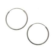 Sterling Silver 20 mm Plain Hoop Earrings