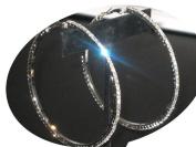 ICE Diamante 7Cm Hoops Silver Earrings Silver