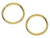 9ct Gold ULTRA MINI Hoop Earrings - 9mm diameter