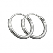 Jewellery Earrings hoop earrings 11mm brilliant from 925 silver 11x1.3mm