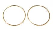 9ct Gold 22mm Plain Sleeper Hoops