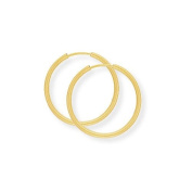 9ct Gold Sleeper Earrings- 18mm