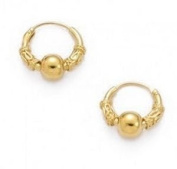 Simply Glamorous Jewellery And Gifts Shop - 18ct Gold Filled Hoops Earrings