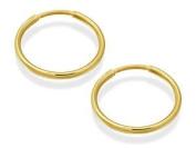 9ct Gold Hoop Earrings - 14mm