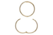 9ct Yellow Gold 14mm Hoop Earrings, Top Hinged Sleeper