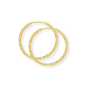 9ct Gold Plain Sleeper Earrings- 22 mm