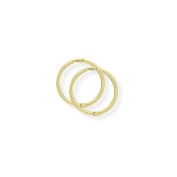 9ct Gold Hinged Sleeper Earrings- 12mm