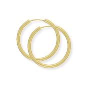 9ct Gold Sleeper Earrings- 22 mm