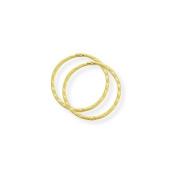 9ct Gold Diamond Cut Hinged Sleeper Earrings- 14mm