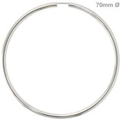 Jewellery - Women - Creole pair - 925 Silver, Diameter of about 70 mm