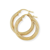 Twist Hoop Earrings in 9Ct Gold 20x22mm