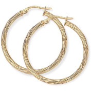 Twist Hoop Earrings in 9Ct Gold 28x30mm