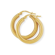 Plain Hoop Earrings in 9Ct Gold 20x21mm