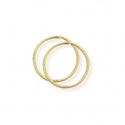 9ct Gold Diamond Cut Hinged Sleeper Earrings- 16mm