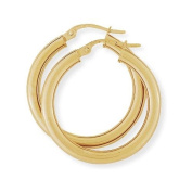 Plain Hoop Earrings in 9Ct Gold 25x27mm