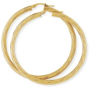 Twist Hoop Earrings in 9Ct Gold 45x47mm