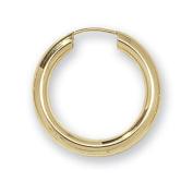 9ct Yellow Gold 22MM Sleeper Earrings