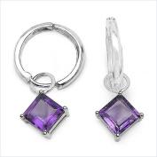 Jewellery-Schmidt-Precious Amethyst Earrings-Silver Rhodium-3, 00 carats