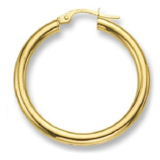 9ct Yellow Gold Extra Extra Large Plain Hoop Earrings