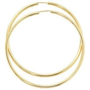 Jewellery Women Pair of Creole 333 Yellow Gold, diameter of about 60 mm, about 3.2 g