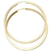 Jewellery Women Pair of Creole 333 Yellow Gold, diameter of about 46.6 mm, hinged closure about 3.3 g