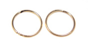 9ct Gold 12mm Plain Sleeper Hoops