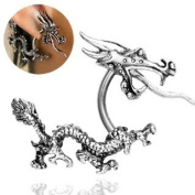 Funky Unique Chinese Dragon Earring