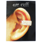 Clear Crystal on Gold Plated Embellished Ear Cuff