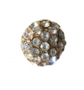 Mens Chunky diamante bling Gold Crystal 12mm Stud earring