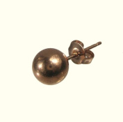 Mens Polished finish Rose Gold Stainless Steel 7mm Ball Stud Earring