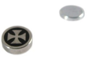 Mens Magnetic 8mm 316l Surgical Stainless Steel stud earring Maltese Cross