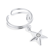 Sterling Silver Ear Cuff with Star Charm Non Pierced Earring